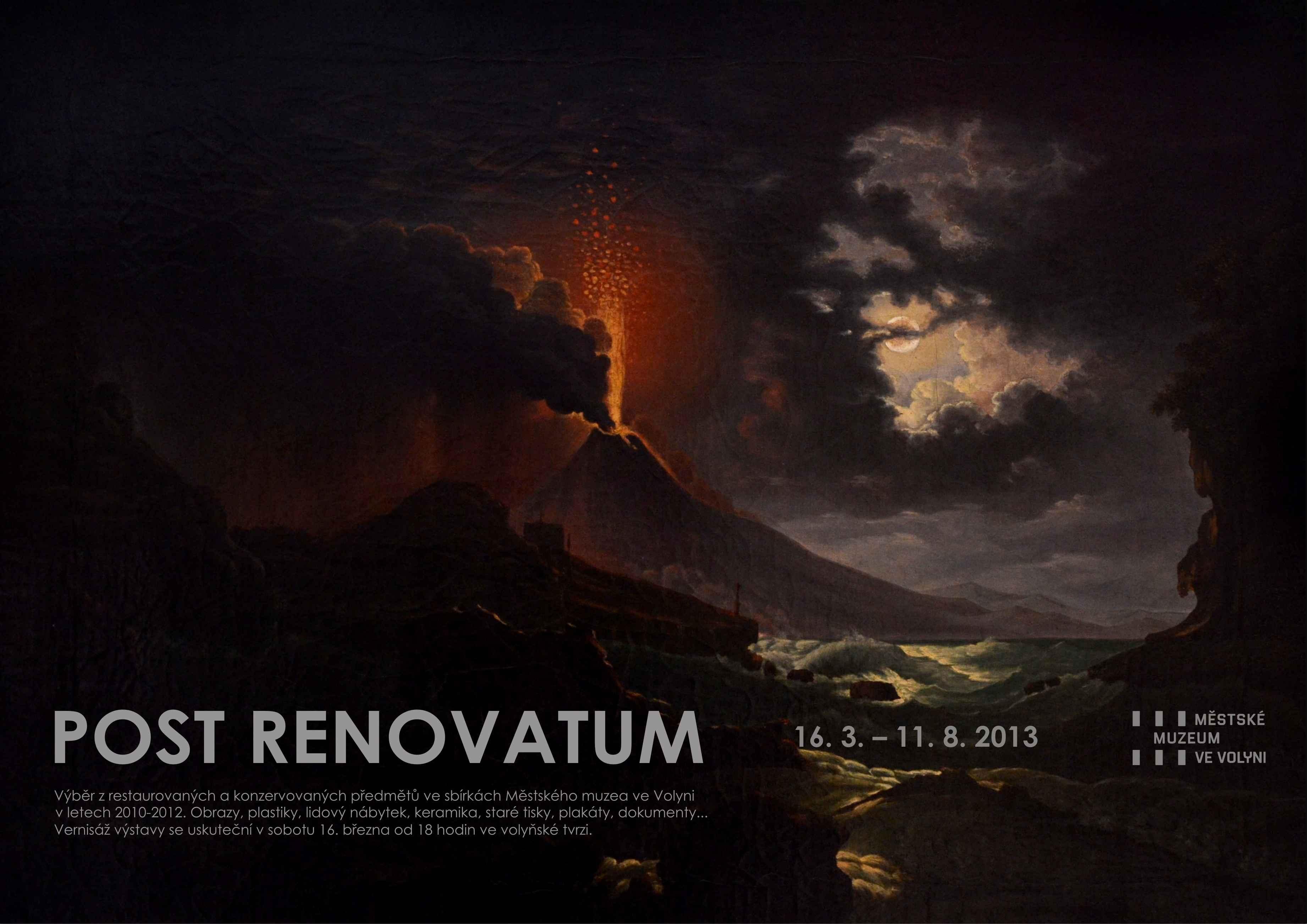 Sobotní vernisáž restaurátorské výstavy Post renovatum