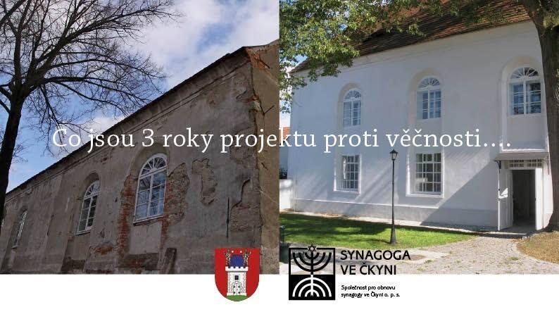Slavnostní dokončení projektu obnovy synagogy ve Čkyni
