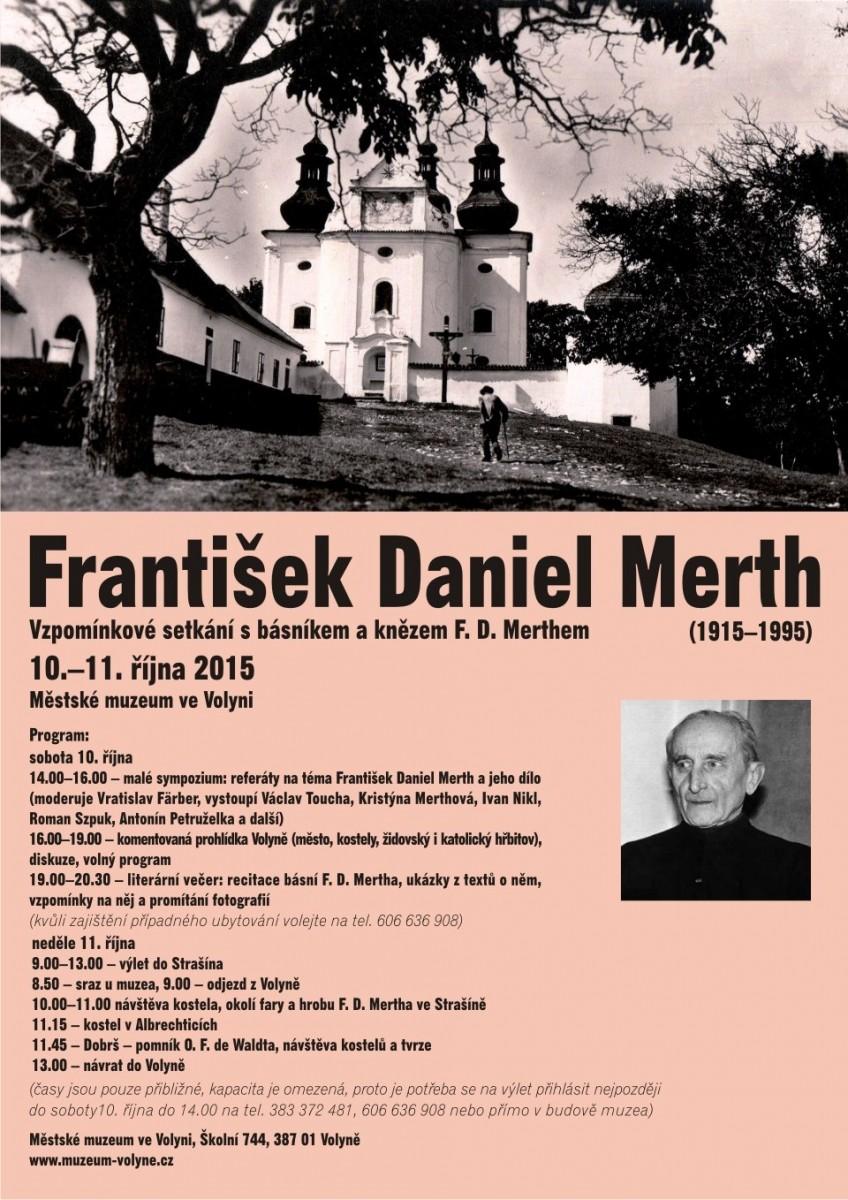 Vzpomínkové setkání s básníkem a knězem F. D. Merthem